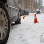 Во время снегопадов в Кривом Роге случилось 6 ДТП