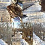 Постапокалиптический сюжет: криворожане жалуются на разрушенные тротуар и мост на одной из улиц города