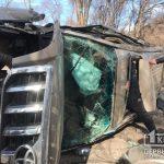 В результате ДТП в Кривом Роге авто перевернулось на бок, есть пострадавшие