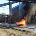 В Кривом Роге полностью сгорел ВАЗ