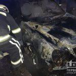 Поздно ночью в Кривом Роге пылали два авто