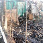 Из-за пожара на открытой территории пострадал криворожанин