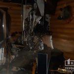 Ночью в Кривом Роге сгорел деревянный частный дом
