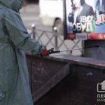 Спасатели продезинфицировали несколько десятков остановок на улицах в Кривом Роге
