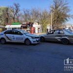 В Кривом Роге авто полицейских попало в ДТП