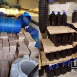 Подпольный цех по производству алкоголя, который продавали в Кривом Роге, разоблачили правоохранители