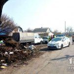 На криворожан, которые хотели выгрузить мусор посреди улицы, составили протокол