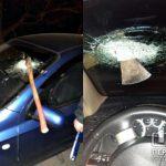 Пьяный криворожанин вонзил топор в авто такси
