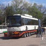 В Кривой Рог доставили очередную партию новых троллейбусов, приобретенных в кредит