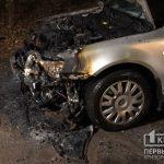 Поздней ночью в Кривом Роге горело авто