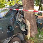 В Кривом Роге во время ДТП погиб водитель легковушки, которая врезалась в дерево
