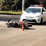 В Кривом Роге в результате ДТП пострадал мотоциклист