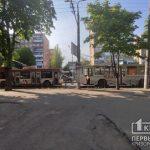 Из-за ДТП в Кривом Роге на 95 квартале затруднено движение троллейбусов