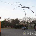 Четверо криворожан украли металл с троллейбусной сети