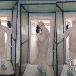 В каких больницах Кривого Рога установлены дезинфицирующие рамки