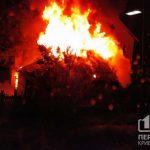 Поздно ночью в Кривом Роге пылал частный дом