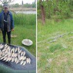 В Кривом Роге на берегу реки Саксагань задержали браконьера