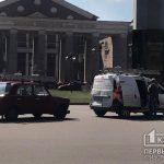 В Кривом Роге возле памятника гетьману случилось ДТП