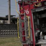 Во время пожара на скоростном в Кривом Роге никто не пострадал
