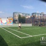 В Кривом Роге на новом теннисном корте все выходные горожане занимались спортом