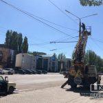 На проспекте Гагарина в Кривом Роге меняют уличное освещение