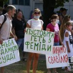 Онлайн: криворожане вышли на акцию в поддержку осужденного рикши Александра Михалевича