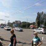 На оживленном перекрестке в Кривом Роге не работают светофоры