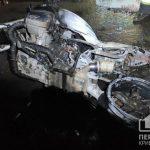 В Желтых Водах возле многоквартирного дома сгорел мотоцикл