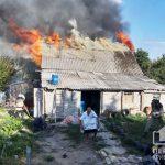 В Пятихатском районе сгорел частный жилой дом