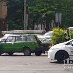 На сложном перекрестке в Кривом Роге случилось ДТП