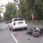 В Кривом Роге в результате ДТП пострадал водитель мопеда