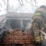 В Кривом Роге горело здание, в котором расположено кафе