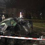 В Кривом Роге авто влетело в дерево