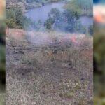 Масштабный пожар тушили спасатели в Криворожском районе