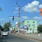 В Кривом Роге оборвавшиеся троллеи повредили светофор
