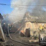 У селі неподалік Кривого Рогу згоріла господарська споруда