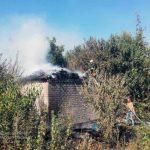 В селі під Кривим Рогом згоріли 2 тонни сіна
